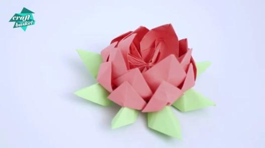 Testing How To Make Lotus Flower Diy Easy Origami For Kids