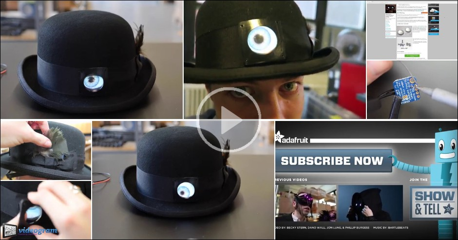 Videogram  Animated Eye Bowler Hat for Halloween 627a98e9c30