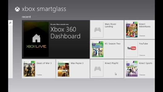 Videogram: Xbox Smartglass : Launch Xbox 360 game from
