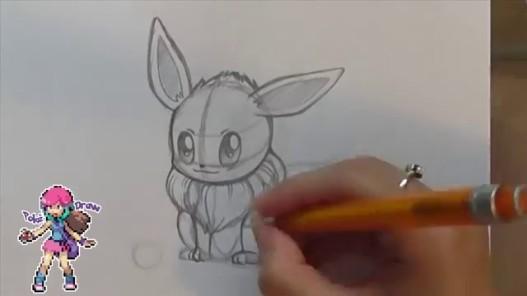 Videogram Come Disegnare I Pokemon Eevee Tutorial Pokedraw
